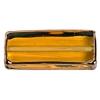 Glass Lamp Bead Prism 32x14x8mm Jonquille/Bronze